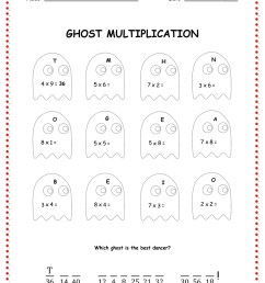 5 Best Multiplication Halloween Worksheets Printables - printablee.com [ 1080 x 832 Pixel ]