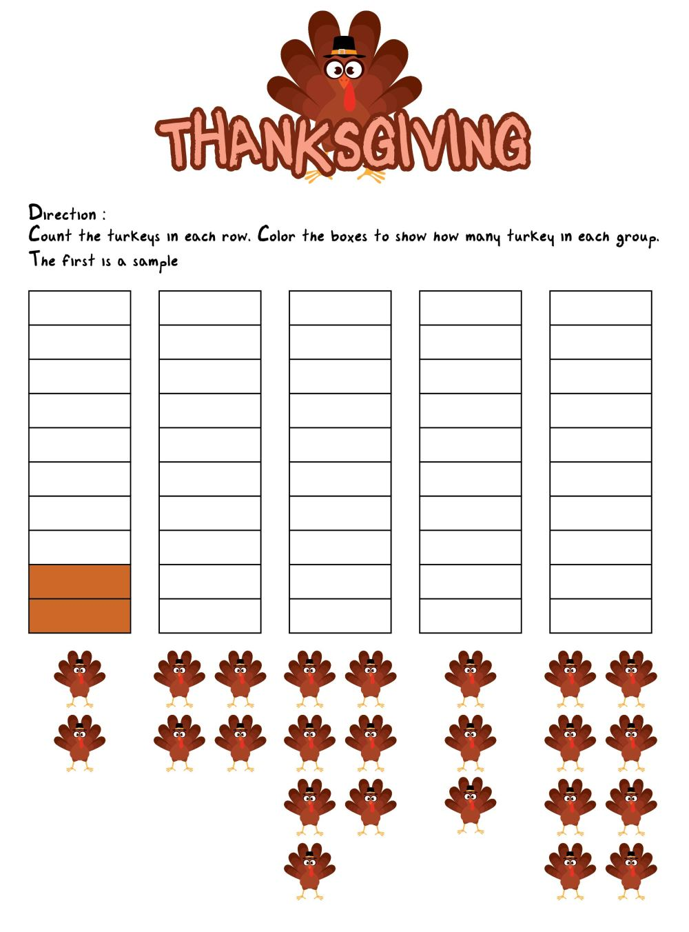 medium resolution of 5 Best 4th Grade Math Worksheets Free Printable For Thanksgiving -  printablee.com