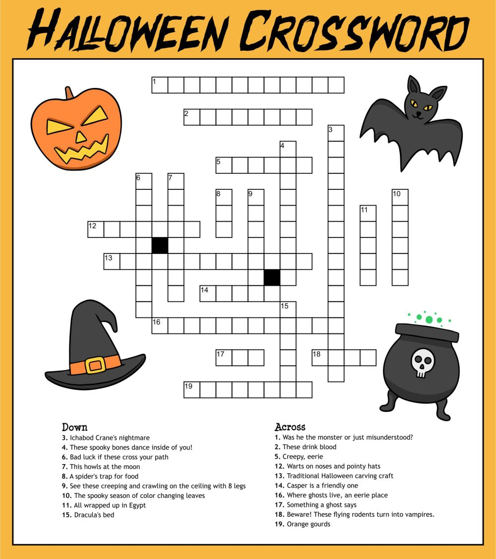 medium resolution of 5 Best Printable Halloween Puzzles 4th Grade - printablee.com