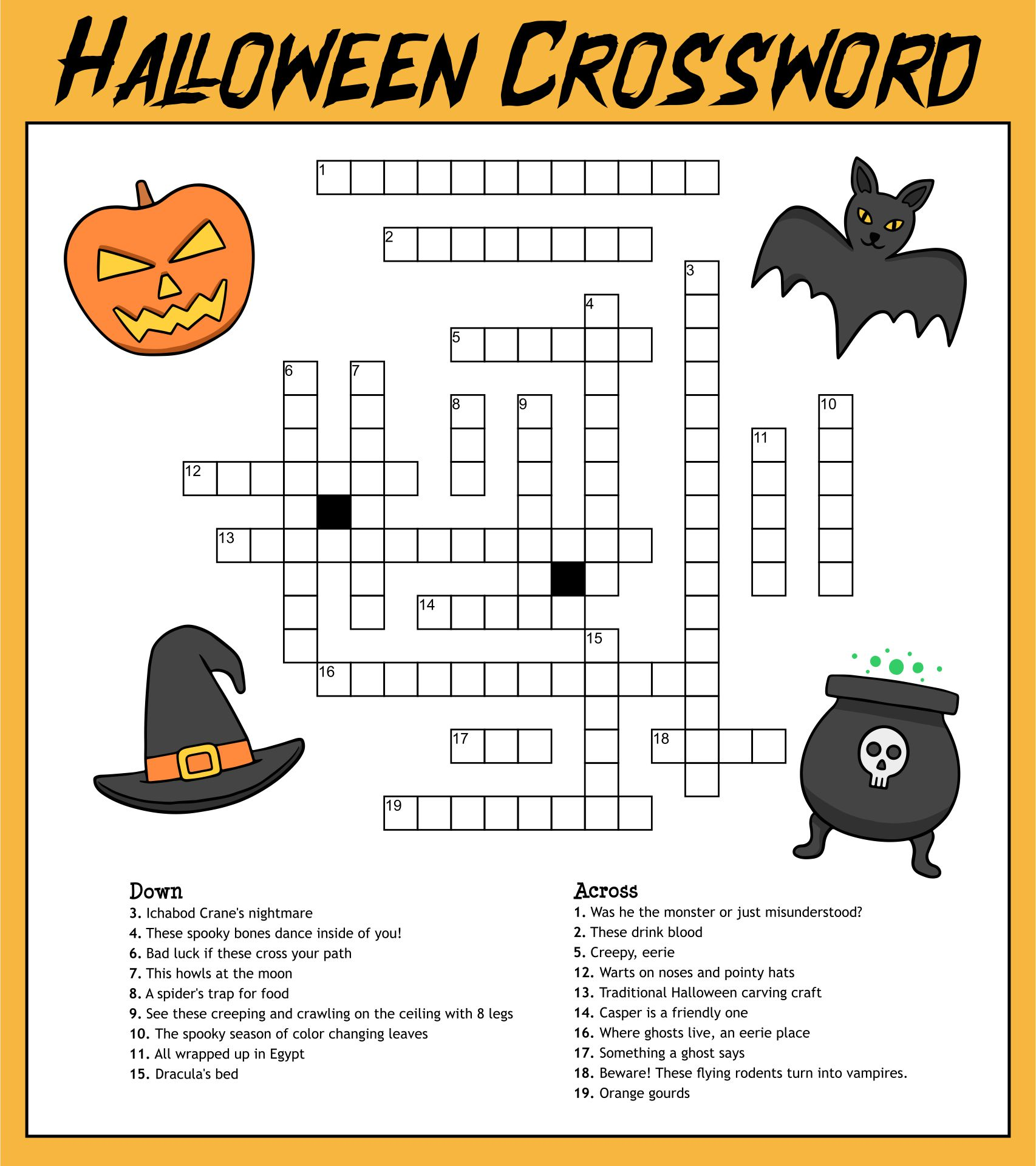 hight resolution of 5 Best Printable Halloween Puzzles 4th Grade - printablee.com