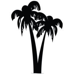 stencil palm tree pineapple printable printablee via