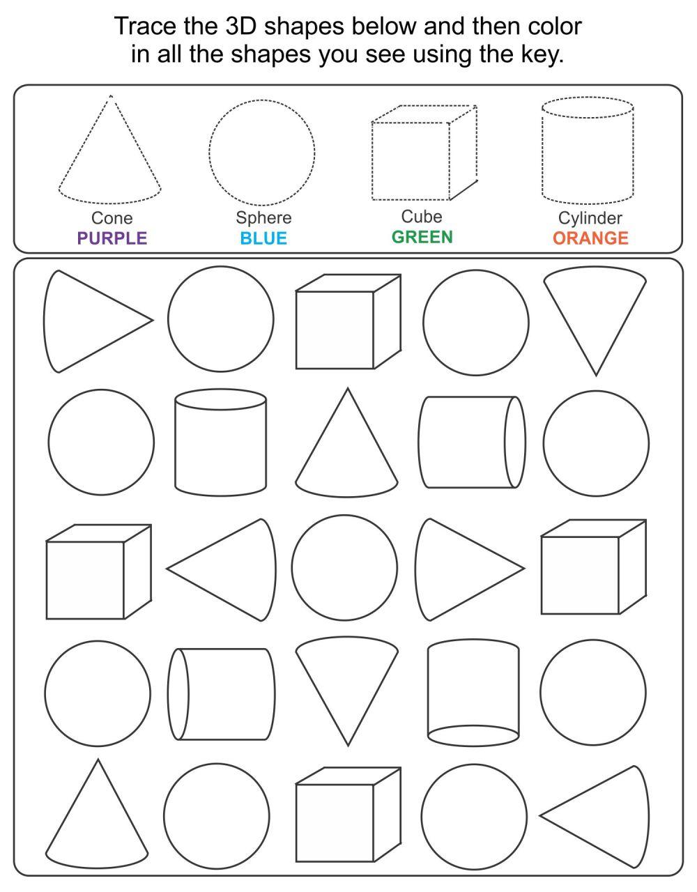 medium resolution of 5 Best Printable 3D Shapes Kindergarten - printablee.com