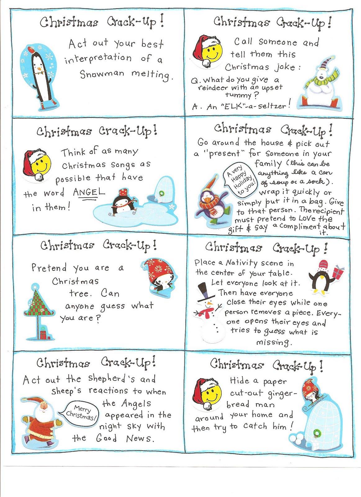 6 Best Images Of Fun Printable Christmas Games  Printable