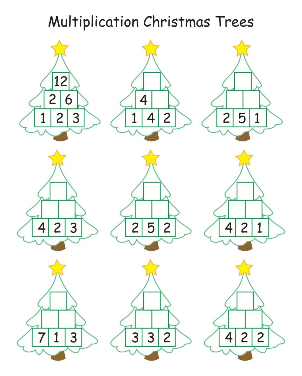 medium resolution of 4 Best Printable Worksheets For 1st Grade Christmas Activities -  printablee.com