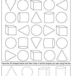 4 Best 3D Shapes Worksheets Printables Kindergarten - printablee.com [ 1920 x 1486 Pixel ]