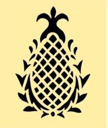 pineapple stencil printable easy printablee via