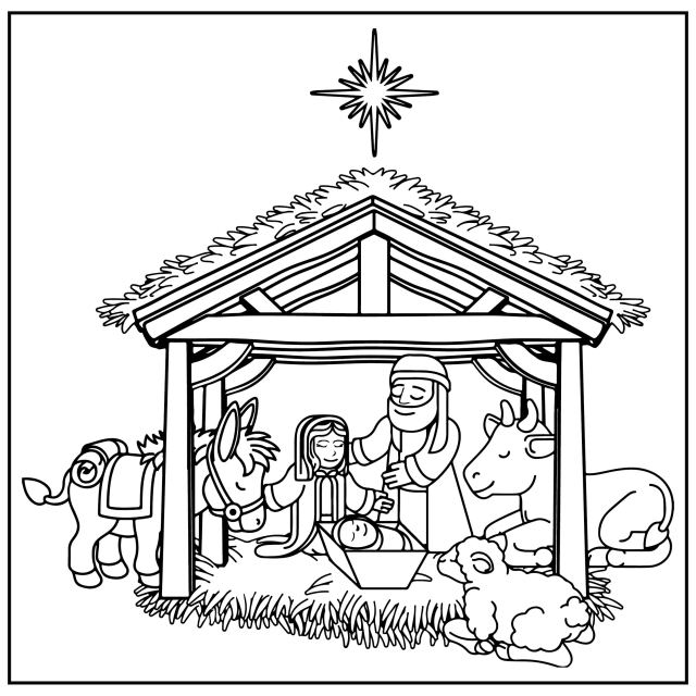 17 Best Christmas Nativity Scene Coloring Page Printable