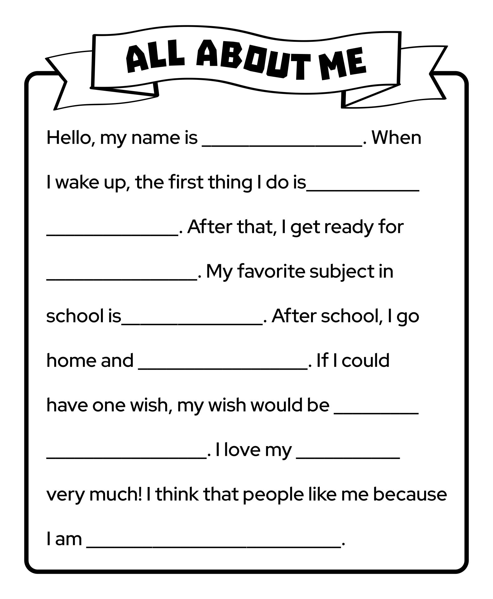 5 Best Printable Worksheets About Adult