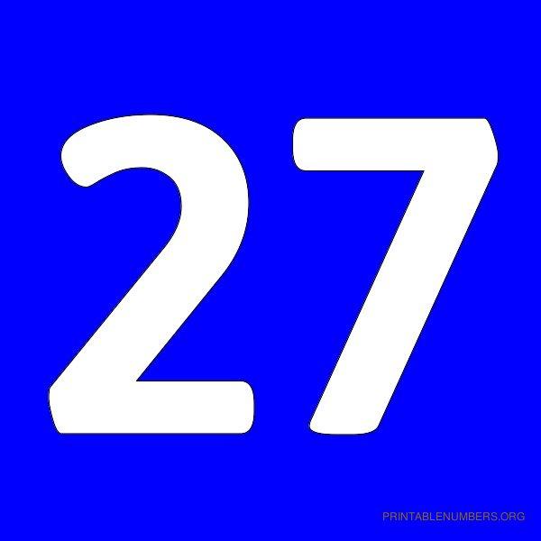 8 Best Images Of Printable Number 27  Printable Number