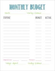 template budget printable monthly simple household worksheet budgeting templates planner weekly personal military bill printablee binder pay wife printables