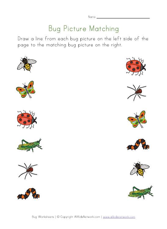 6 Best Images Of Free Printable Bug Worksheets  Free Beginning Letter Sounds Worksheets, Insect