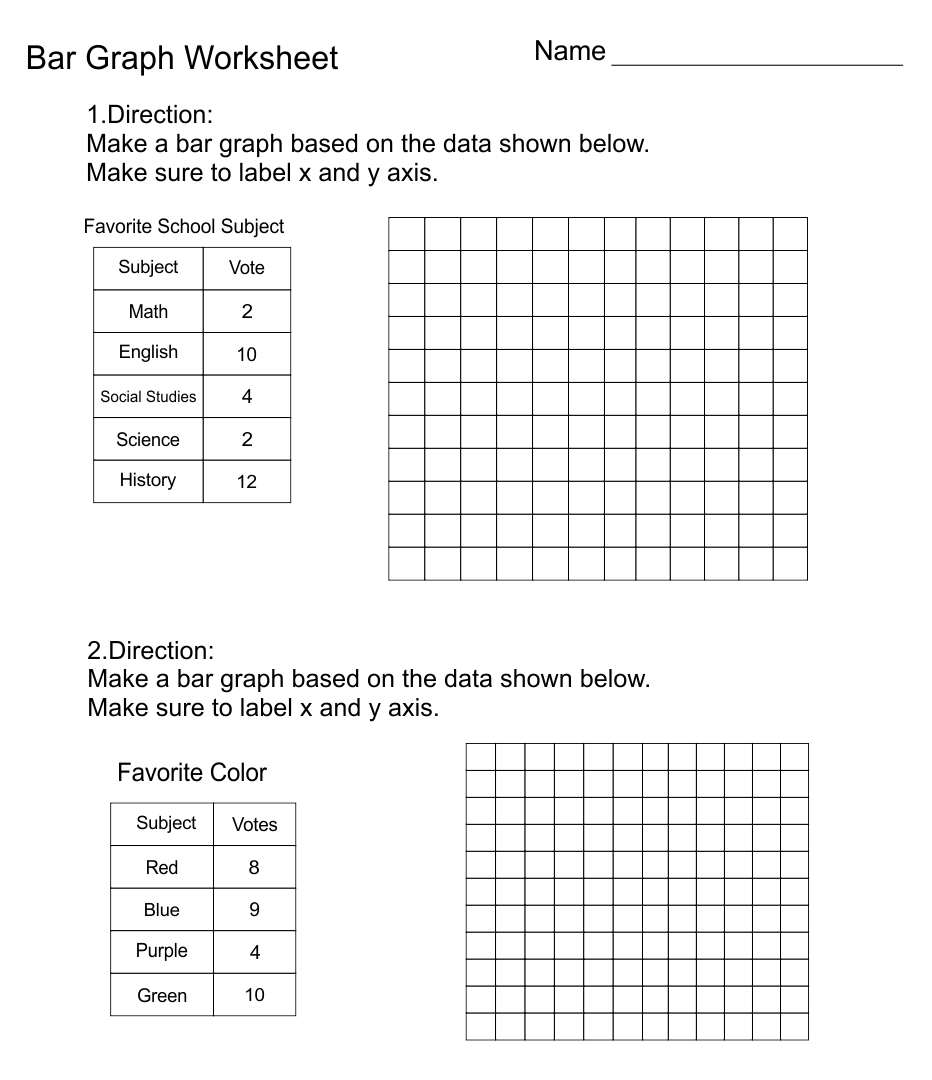 hight resolution of 7 Best Free Printable Bar Graph Worksheets - printablee.com