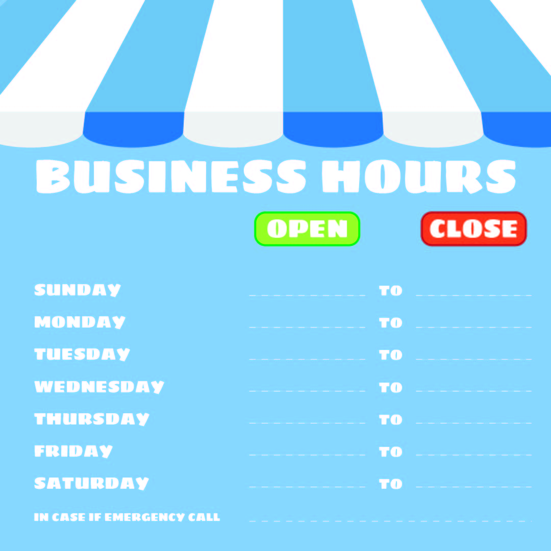 6 Best Images Of Printable Office Hours Sign  Free