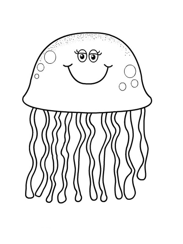 Jelly Fish Coloring Page : jelly, coloring, Jellyfish, #20557, (Animals), Printable, Coloring, Pages