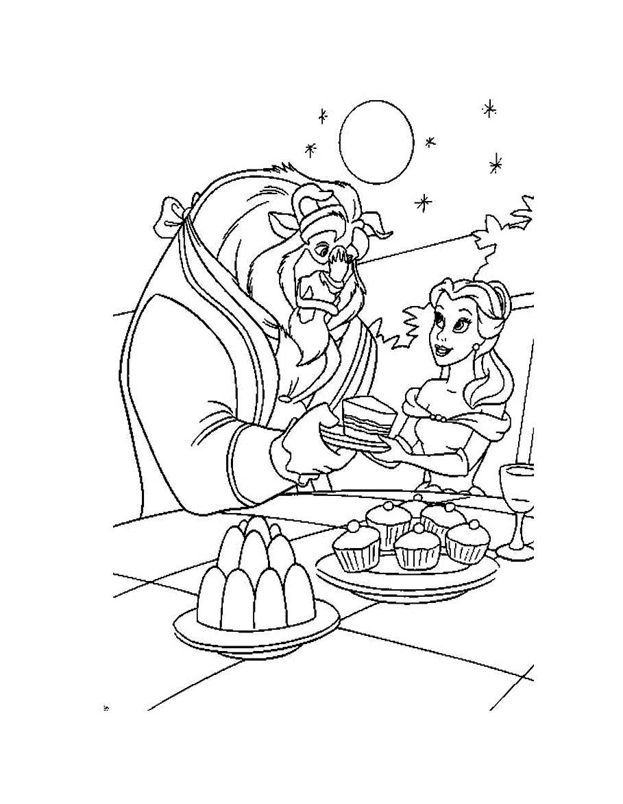 Coloriage Disney La Belle Et La Bete : coloriage, disney, belle, Beauty, Beast, #130970, (Animation, Movies), Printable, Coloring, Pages