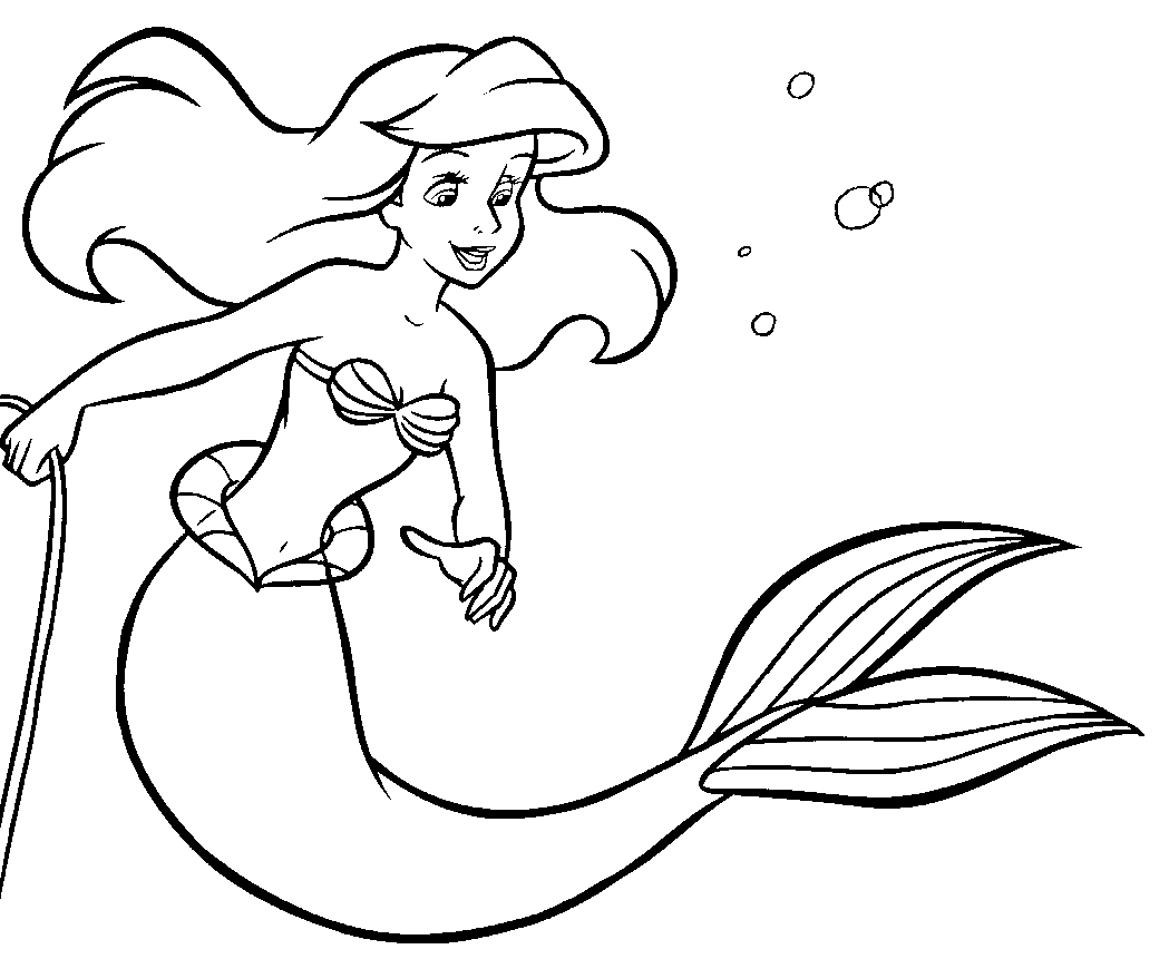 The Little Mermaid Animation Movies Printable Coloring