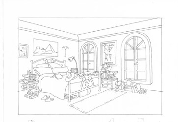 Bedroom #63414 Buildings and Architecture Printable coloring pages