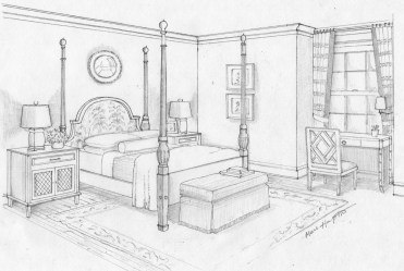 Bedroom #66594 Buildings and Architecture Printable coloring pages