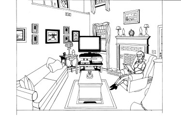 Living room #63257 Buildings and Architecture Printable coloring pages