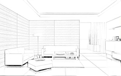 Living room #66424 Buildings and Architecture Printable coloring pages