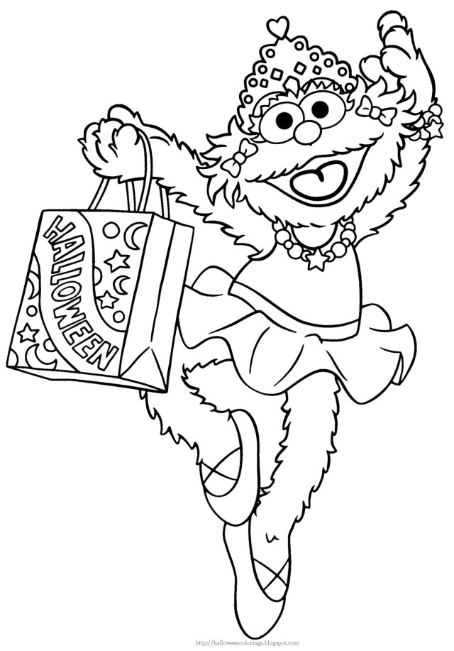 Drawing Sesame street #26 (Cartoons) – Printable coloring pages