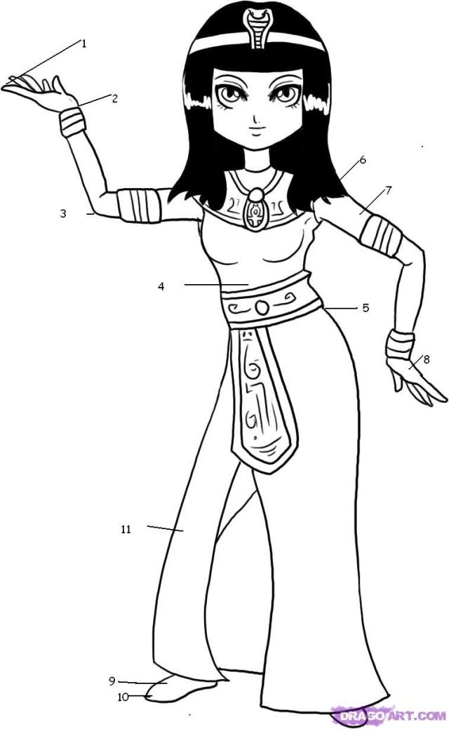 Drawings Cleopatra (Characters) – Printable coloring pages