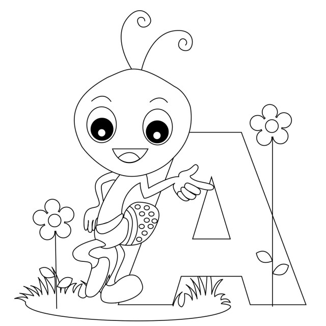 Drawing Alphabet #7 (Educational) – Printable coloring pages