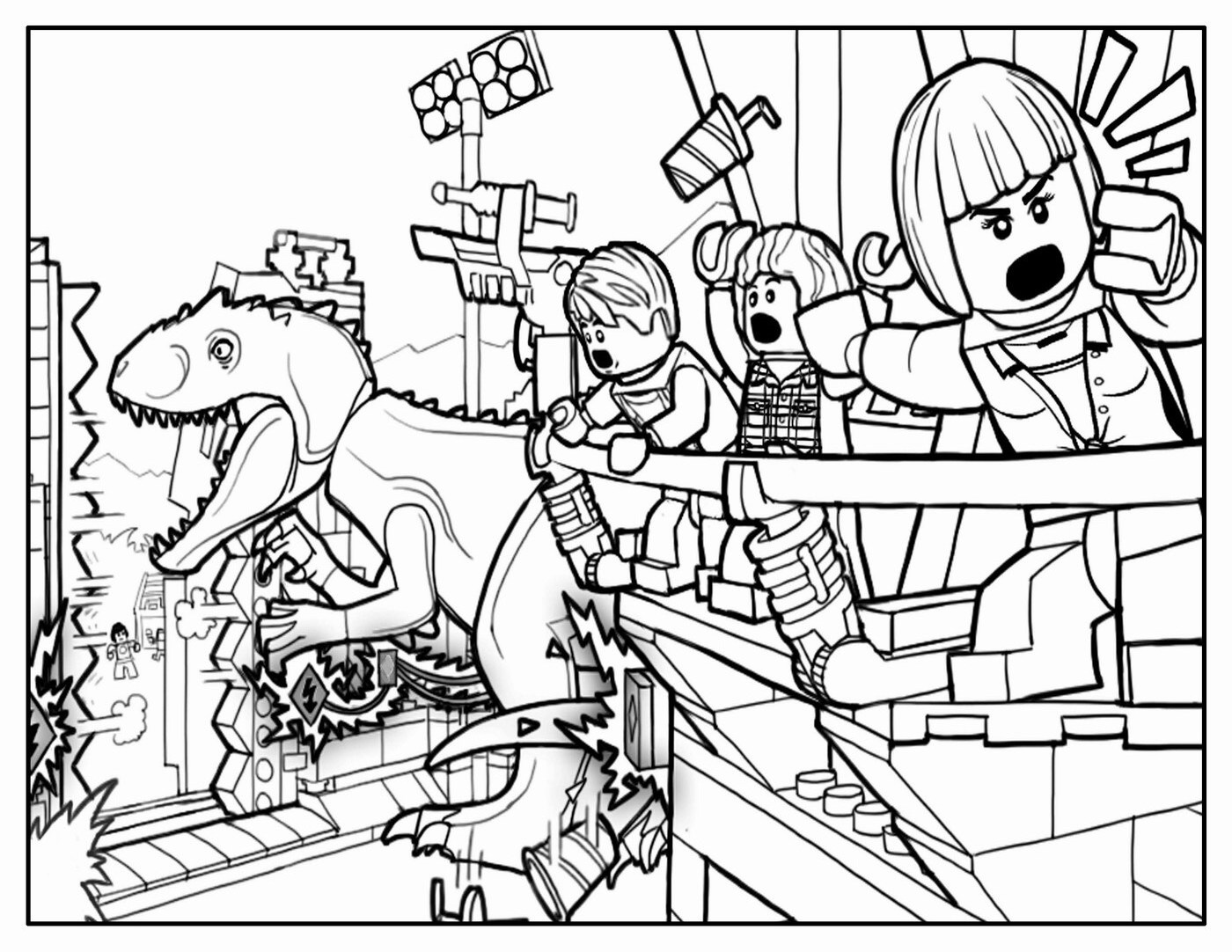 Jurassic Park Movies Printable Coloring Pages
