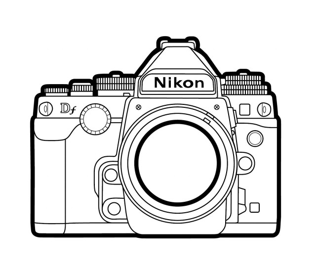 Drawing Photo camera #20 (Objects) – Printable coloring pages