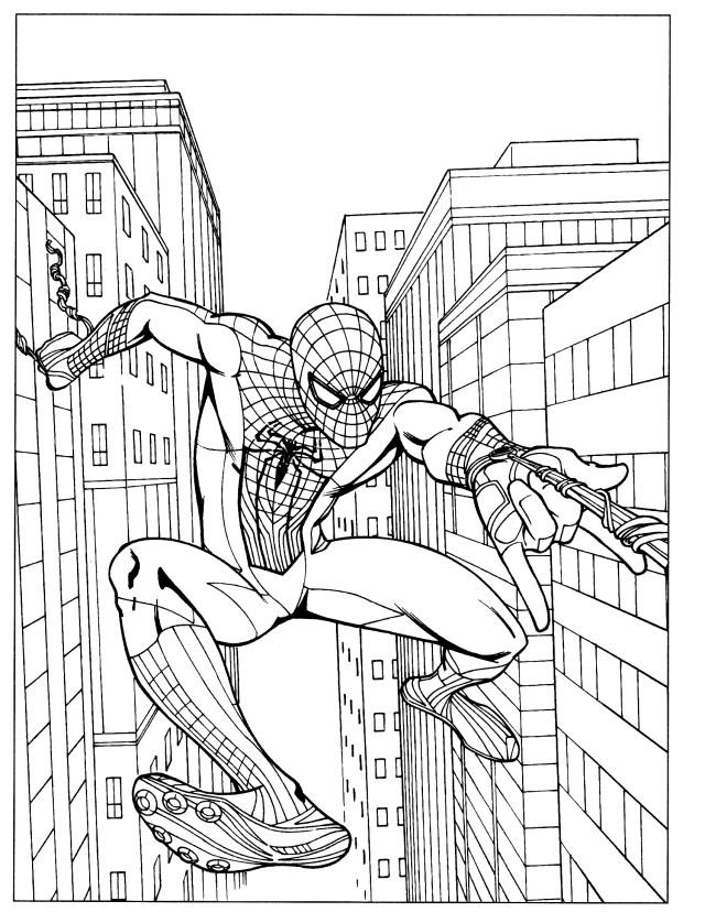 Drawing Spiderman #9 (Superheroes) – Printable coloring pages