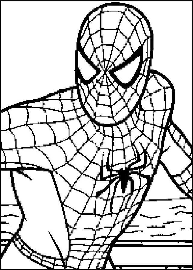 Drawing Spiderman #29 (Superheroes) – Printable coloring pages