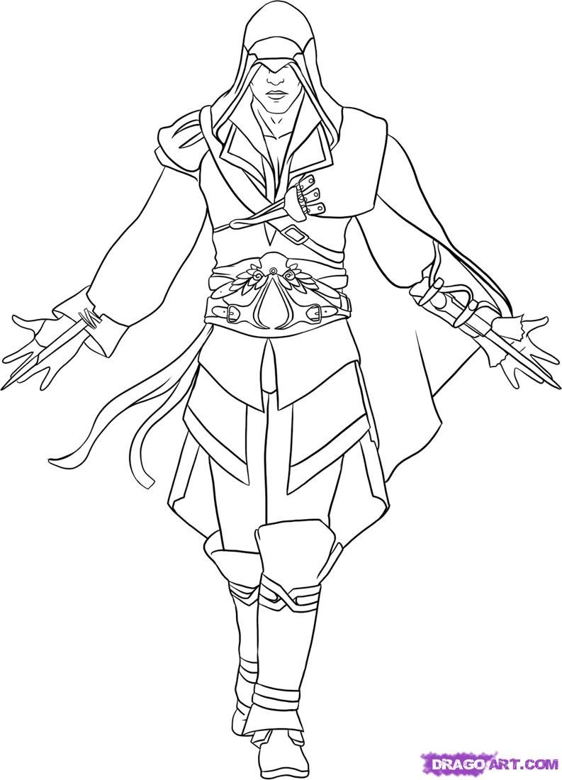 Assassins Creed Coloring Pages : assassins, creed, coloring, pages, Assassin's, Creed, (Video, Games), Printable, Coloring, Pages