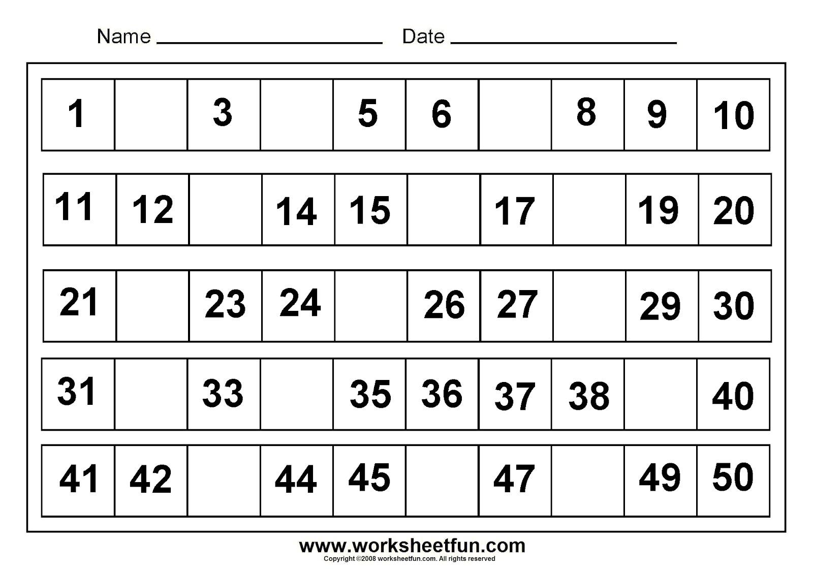Download Kindergarten Worksheets Free Printable