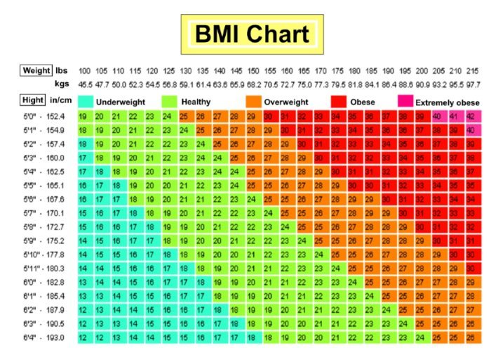 Bmi Calculator For Men Chart