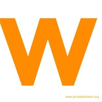 The gallery for --> Orange Letter W