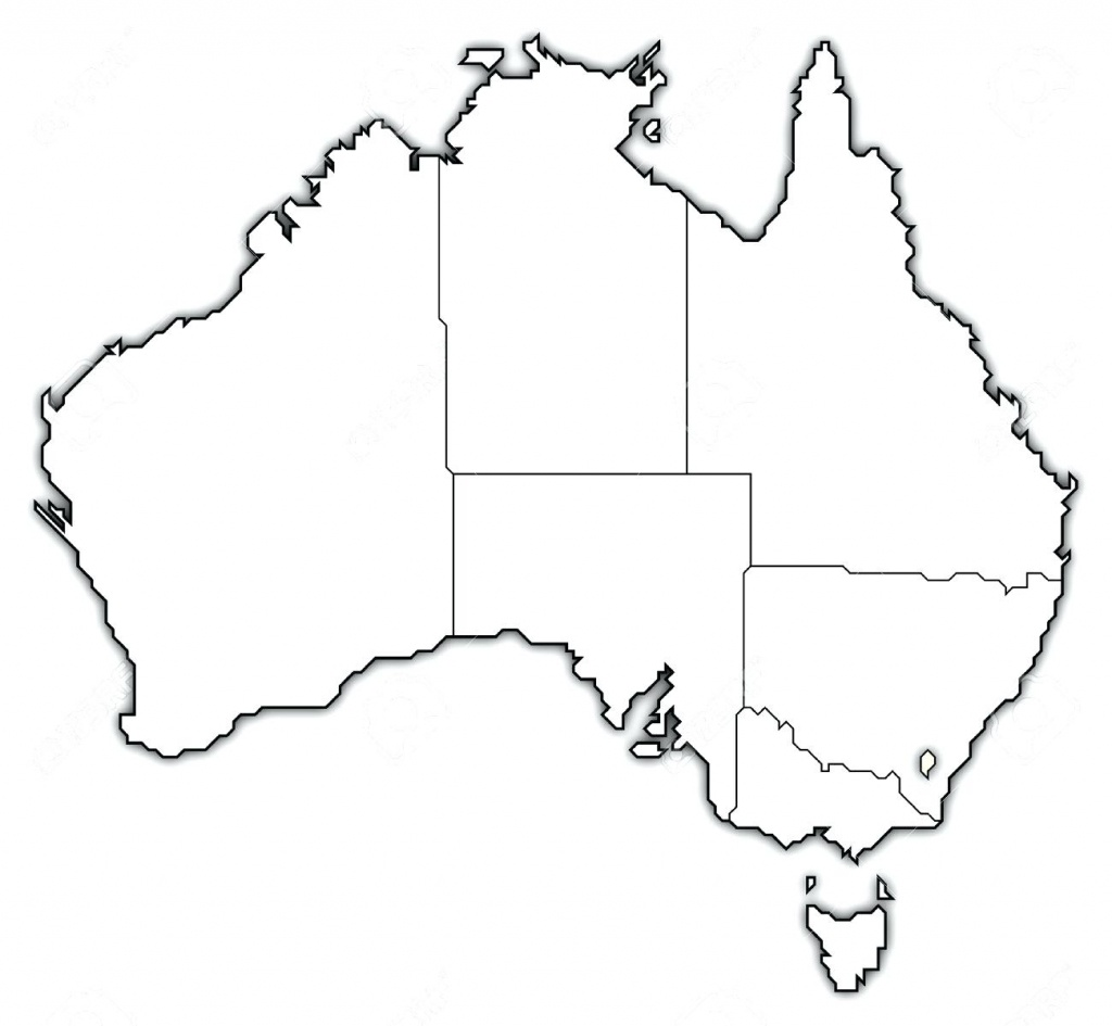 Blank Map Of Australia Printable