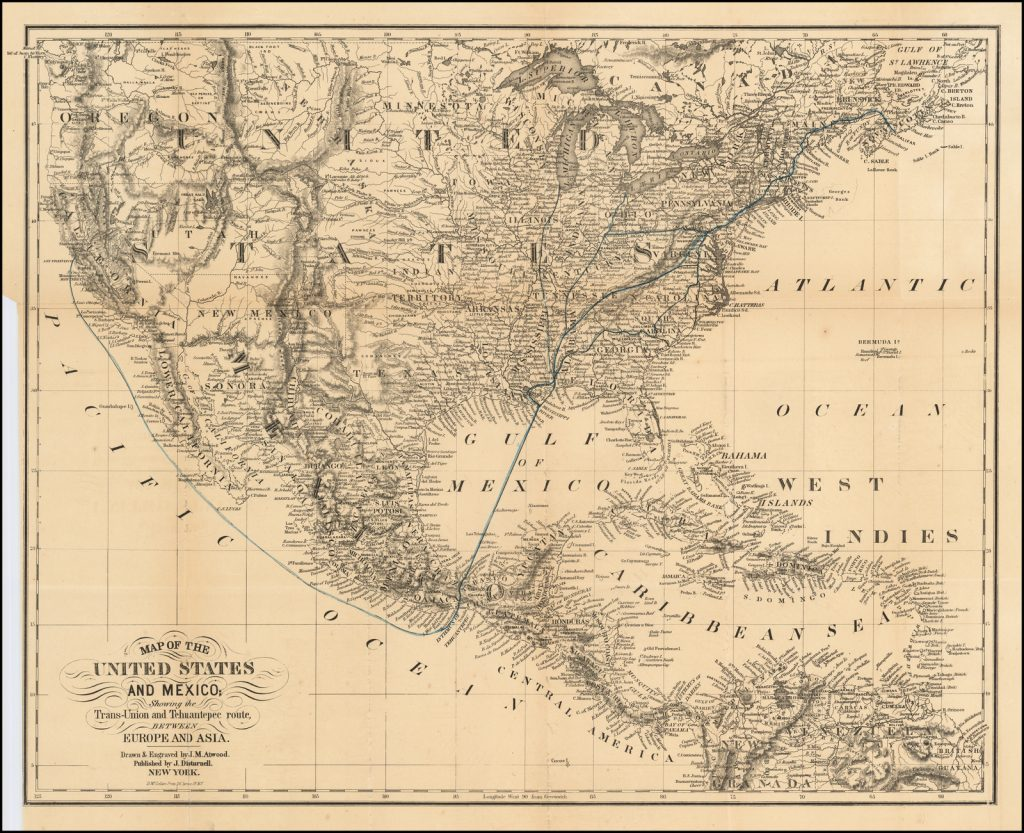 California Gold Rush Rarity Map Of The United States And