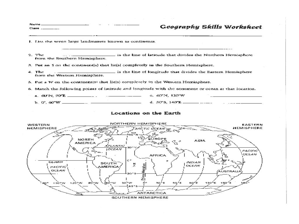 Free Printable Map Skills Worksheets
