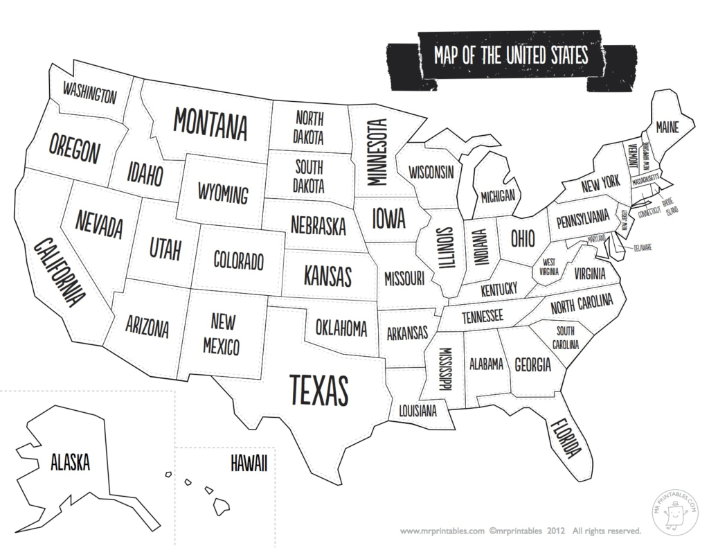 United States Map Quiz Printout Save Us State Map Quiz