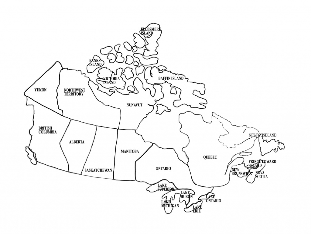 Free Printable Map Of Canada Provinces And Territories