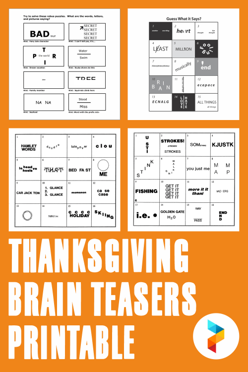 small resolution of 5 Best Thanksgiving Brain Teasers Printable - printablee.com