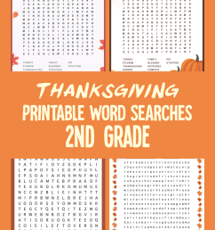 5 Best Thanksgiving Printable Word Searches 2nd Grade - printablee.com [ 1500 x 1000 Pixel ]