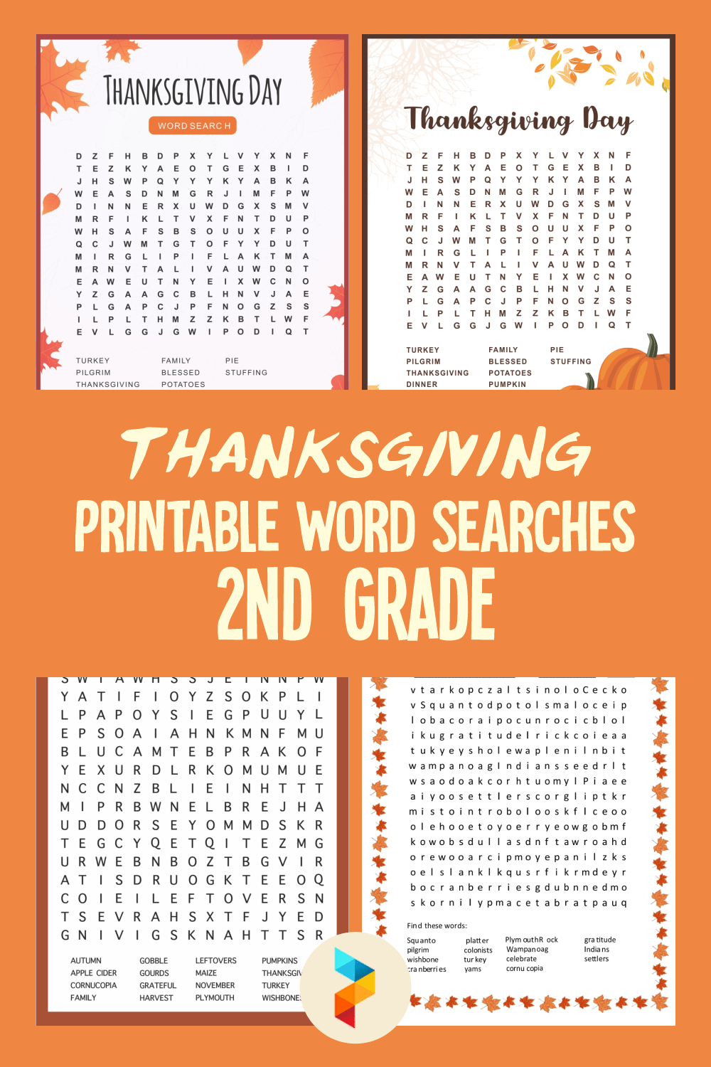 medium resolution of 5 Best Thanksgiving Printable Word Searches 2nd Grade - printablee.com