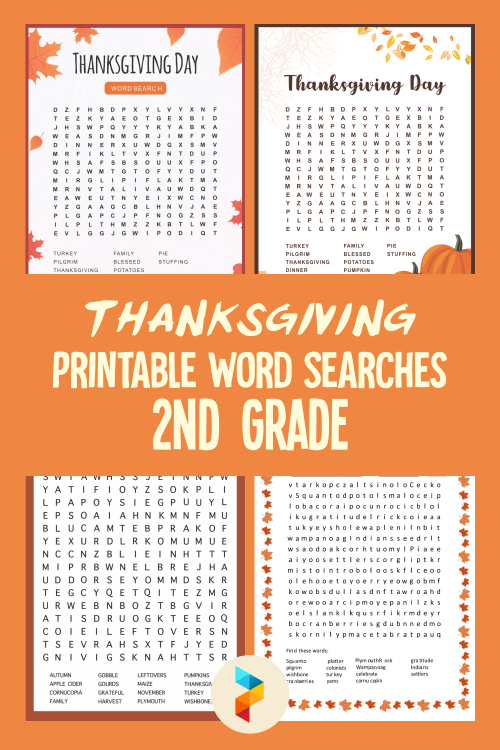 small resolution of 5 Best Thanksgiving Printable Word Searches 2nd Grade - printablee.com