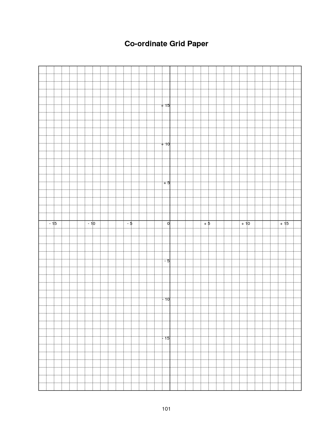 Printable Graph Paper Coordinate Grid