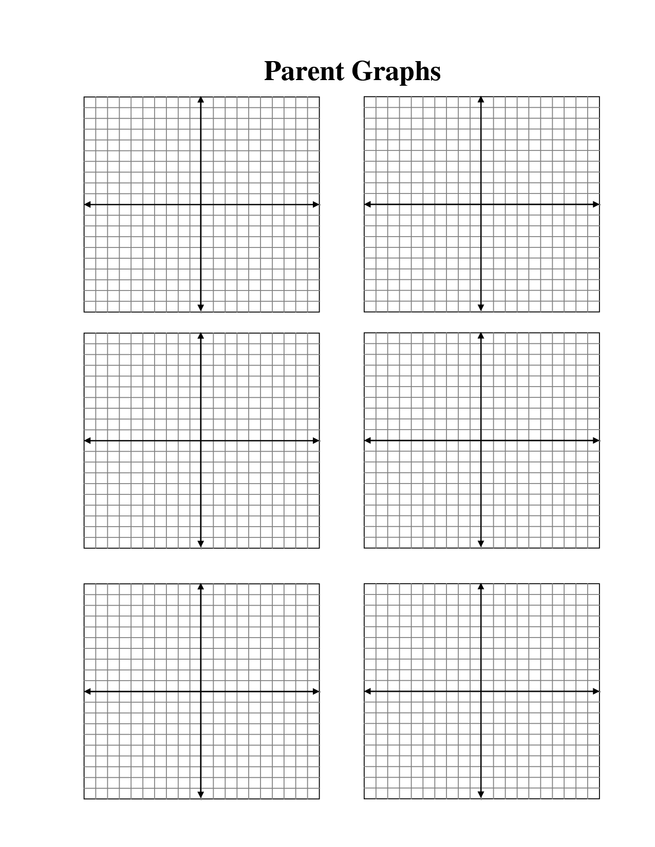 Blank Graph Paper 4 Quadrants Worksheet Printable