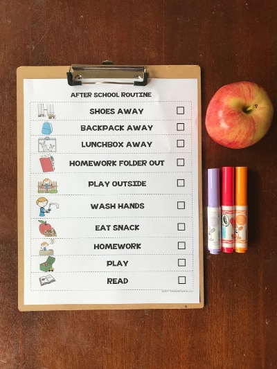 Routines for Your Children - free printable charts