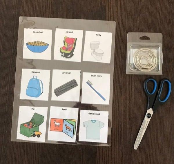 preschooler-toddler-morning-routine-laminated-cards-binder-rings-