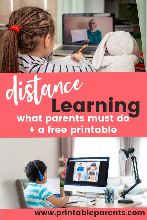 two children on laptops for distance learning