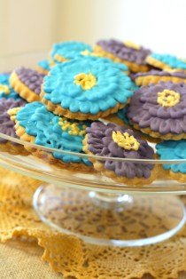 This is an image of flower cookies.